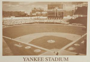 New York Yankees Yankee Stadium B&W Vintage Photo Sports