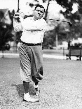 New York Yankees. Yankees Outfielder Babe Ruth Playing Golf, Early 1930s