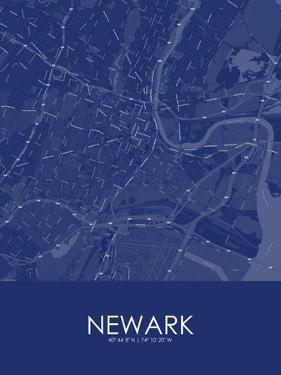 Newark, United States of America Blue Map