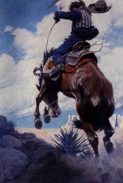 Bucking, 1904 by Newell Convers Wyeth