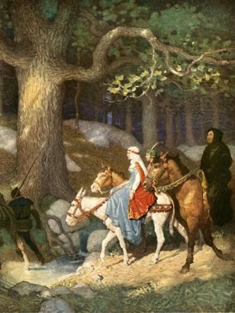Country Folk Wending their Way to the Tourney by Newell Convers Wyeth