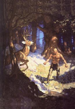 Inncus Slays the Deer by Newell Convers Wyeth