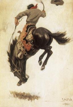 Man on Bucking Bronco, 1902 by Newell Convers Wyeth
