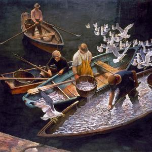 N.C. Wyeth: Fishermen by Newell Convers Wyeth