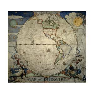 N.C. Wyeth's Painting of the Western Hemisphere by Newell Convers Wyeth
