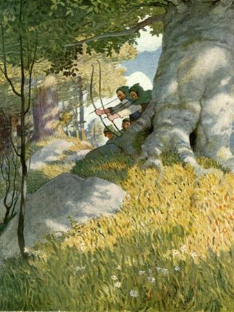 Robin Hood and His Companions Rescue Will Stutely by Newell Convers Wyeth