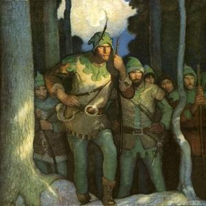Robin Hood and His Merry Outlaws by Newell Convers Wyeth