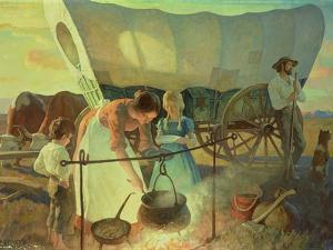 Seeking the New Home by Newell Convers Wyeth