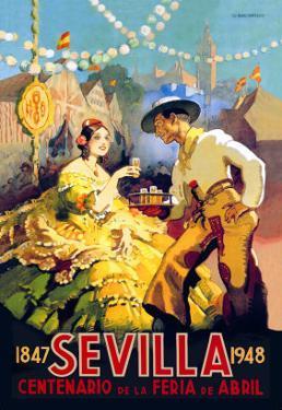 Sevilla Centenario de la Feria de Abril by Newell Convers Wyeth