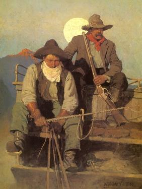 The Pay Stage, 1909 by Newell Convers Wyeth