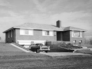 Newly Constructed Suburban Home in Washington State, Ca. 1957