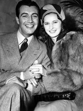 Newlyweds Robert Taylor and Barbara Stanwyck After Their Surprise Elopement, ca. 1939