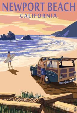 Newport Beach, California - Woody On Beach