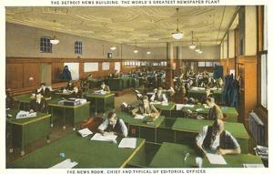 Newsroom, Detroit News Building, Michigan