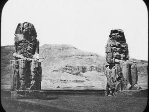 Colossi of Memnon, Luxor (Thebe), Egypt, C1890 by Newton & Co