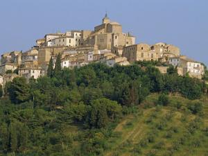Houses and Church of an Ancient Wine Town on a Hill at Loreto Aprutino in Abruzzi, Italy, Europe by Newton Michael