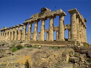 Ruins of the Greek Temples at Selinunte on the Island of Sicily, Italy, Europe by Newton Michael