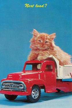 Next Load? Kitten in Toy Truck