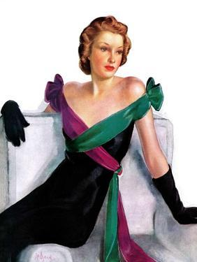 """""""Evening Gown,""""May 21, 1938 by Neysa Mcmein"""