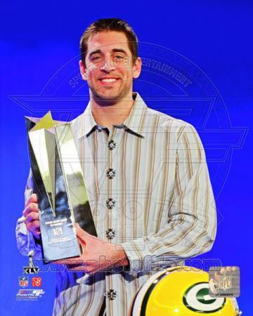 NFL Aaron Rodgers with Super Bowl XLV MVP Trophy (#23)