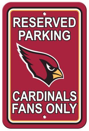 NFL Arizona Cardinals Plastic Parking Sign - Reserved Parking