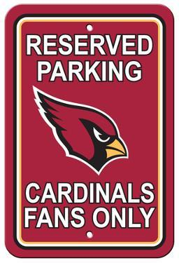 NFL Arizona Cardinals Plastic Parking Sign - Reserved Parking