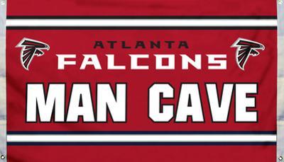 NFL Atlanta Falcons Man Cave Flag with 4 Grommets