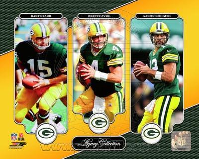 NFL Bart Starr, Brett Favre, & Aaron Rodgers Legacy Collection