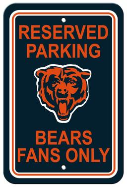 NFL Chicago Bears Plastic Parking Sign - Reserved Parking