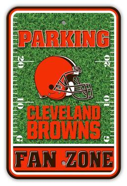 NFL Cleveland Browns Field Zone Parking Sign