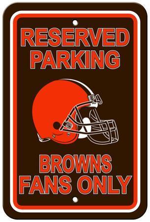 NFL Cleveland Browns Reserved Parking Sign