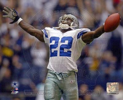 NFL Dallas Cowboys # 22 Emmitt Smith Sports Photo