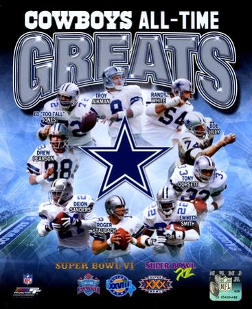 NFL Dallas Cowboys All Time Greats Composite