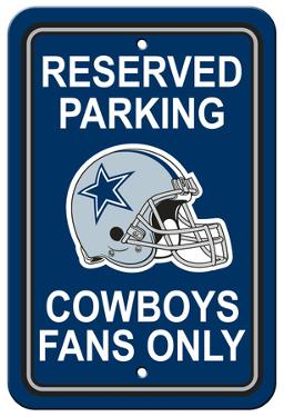 NFL Dallas Cowboys Plastic Parking Sign - Reserved Parking