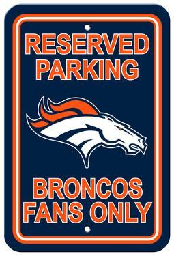 NFL Denver Broncos Plastic Parking Sign - Reserved Parking