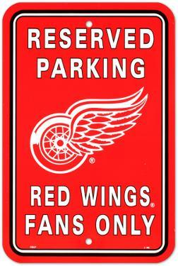NFL Detroit Red Wings Parking Sign