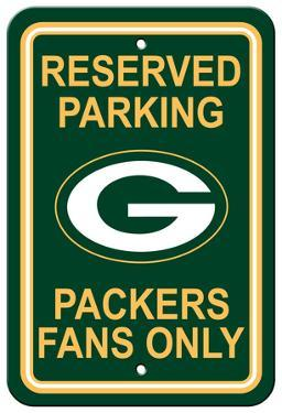 NFL Green Bay Packers Plastic Parking Sign - Reserved Parking