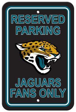 NFL Jacksonville Jaguars Plastic Parking Sign - Reserved Parking