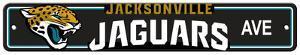 NFL Jacksonville Jaguars Plastic Street Sign