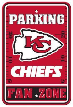 NFL Kansas City Chiefs Plastic Parking Sign - Fan Zone
