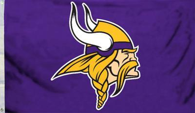 NFL Minnesota Vikings Logo Flag With Grommetts