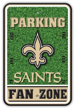 NFL New Orleans Saints Field Zone Parking Sign