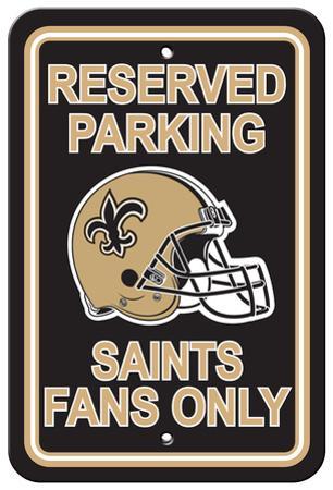 NFL New Orleans Saints Plastic Parking Sign - Reserved Parking