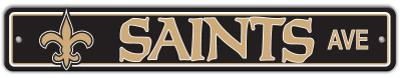 NFL New Orleans Saints Street Sign