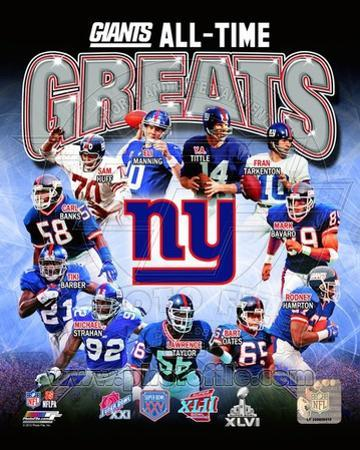 NFL New York Giants All-Time Greats Composite