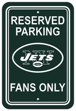 NFL New York Jets Plastic Parking Sign - Reserved Parking