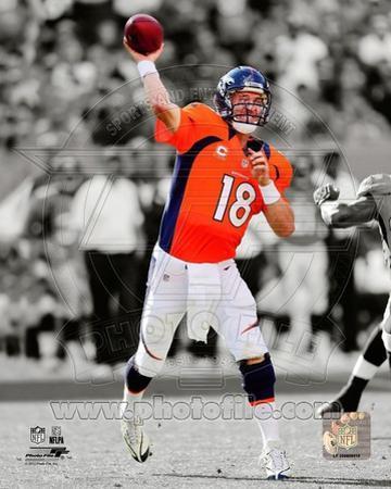 NFL Peyton Manning 2012 Spotlight Action