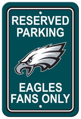 NFL Philadelphia Eagles Plastic Parking Sign - Reserved Parking