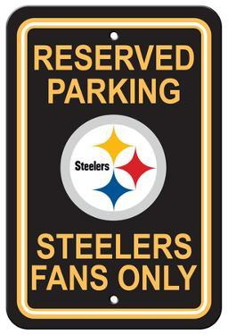 NFL Pittsburgh Steelers Plastic Parking Sign - Reserved Parking