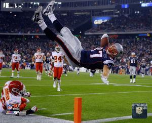 NFL Rob Gronkowski 2011 Action